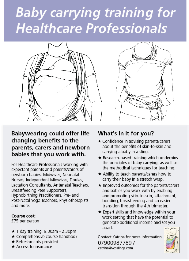 Hold Closeb baby carrying training for Healthcare Professionals summary